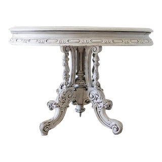 19th Century Painted and Carved Center Table For Sale