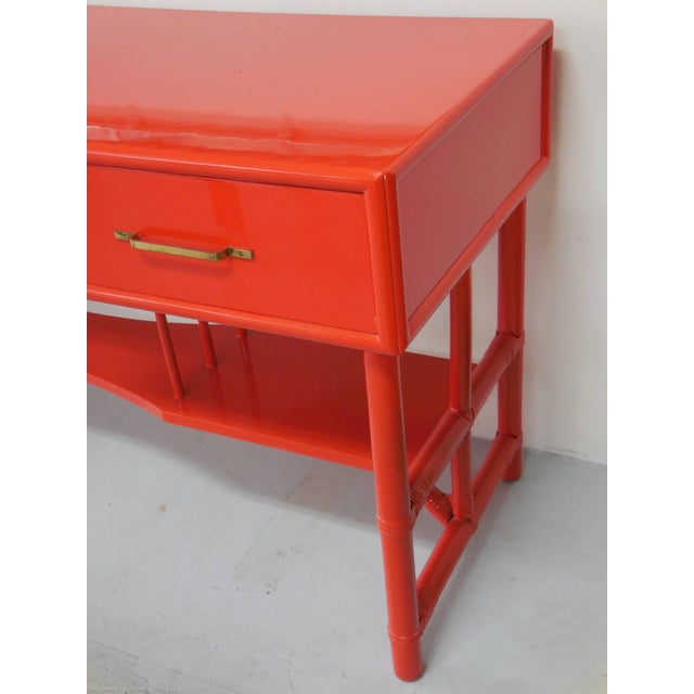 Slender Tommi Parzinger Attributed Desk for Willow and Reed For Sale In Miami - Image 6 of 10