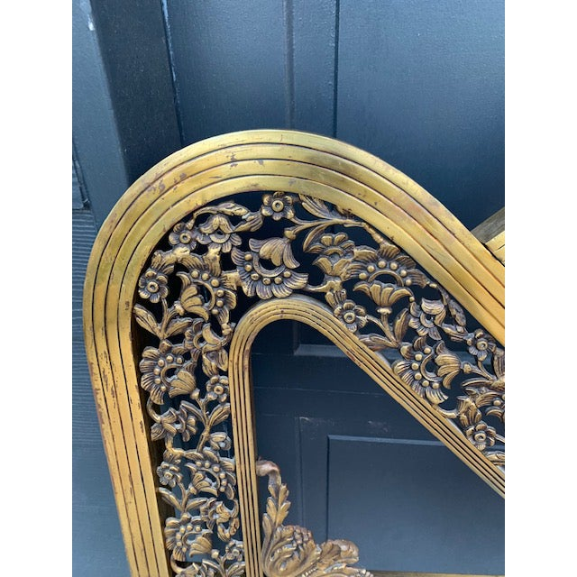 French Art Deco Brass Bed in Full For Sale - Image 4 of 8