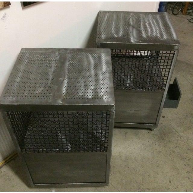 Repurposed Metal Industrial Tables - Pair - Image 4 of 7
