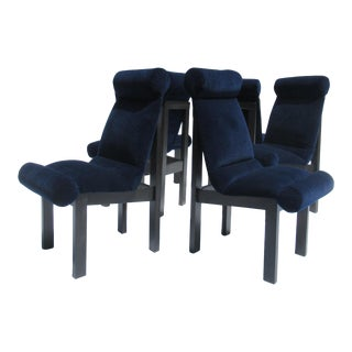 Vintage .1960's Mid-Century Sculptural Dining Chairs -Set of 6 For Sale