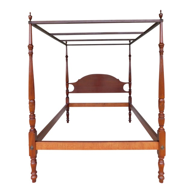 Suters Chippendale Style Mahogany Tester Frame Full Size Poster Bed For Sale