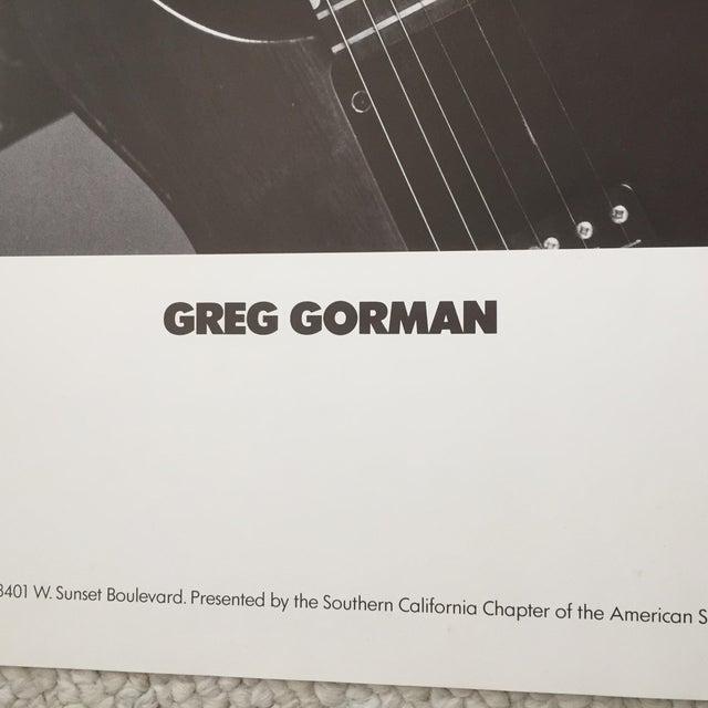 Modern Greg Gorman David Bowie Original 1986 Promo Poster For Sale - Image 3 of 7