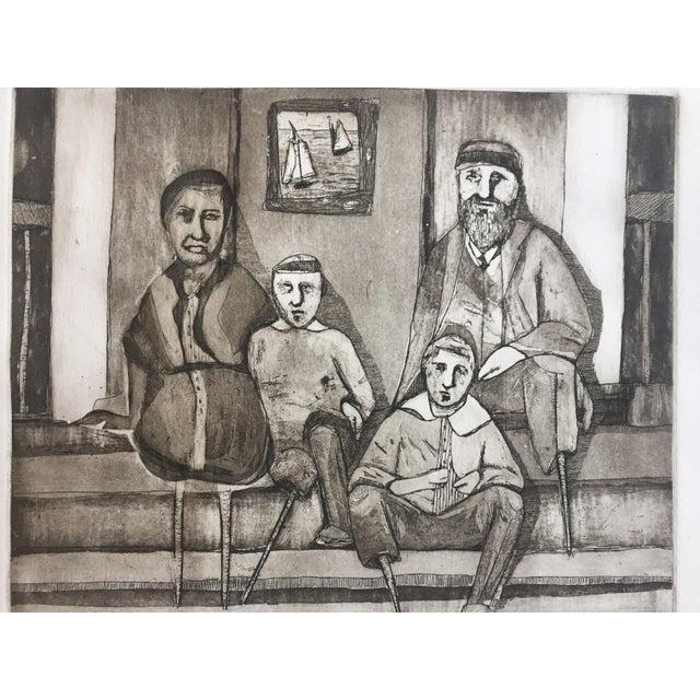 """Vintage """"Family Portrait"""" Original Lithograph - Image 2 of 6"""