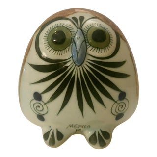 Handmade Mexican Ceramic Owl For Sale