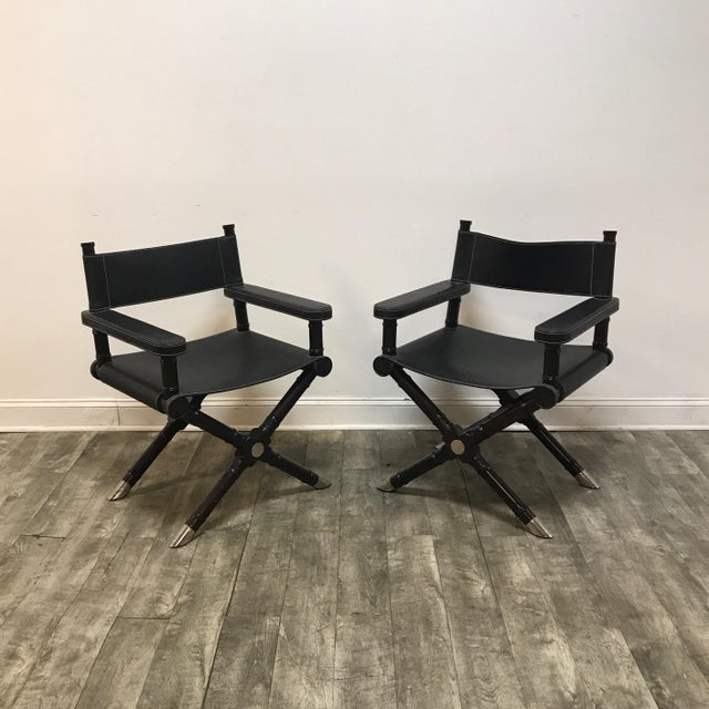 Modern Style Director's Chairs - a Pair For Sale - Image 9 of 9