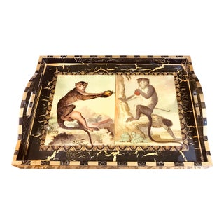 Annie Modica Lacquered Monkey Tray For Sale