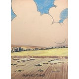 Image of Harvesting by Evelyn Underwood 1940s For Sale