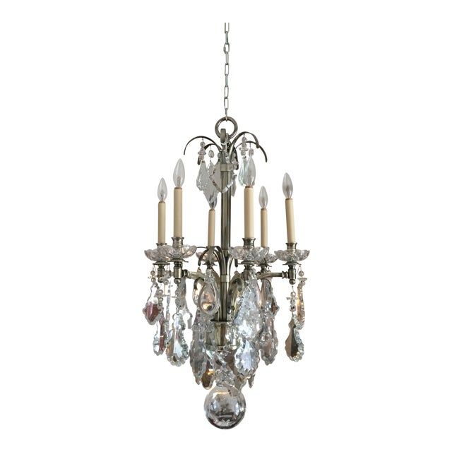 Vintage Hart Crystal Arm Chandelier For Sale