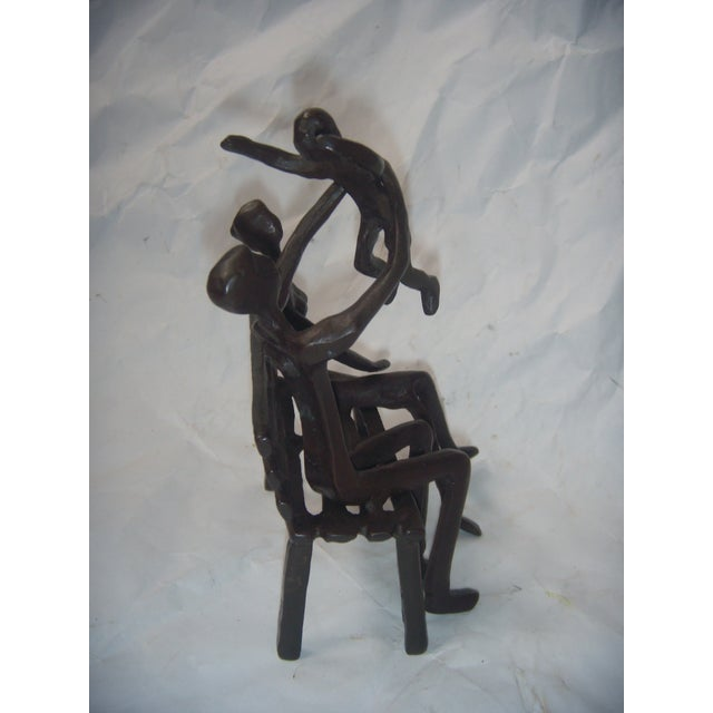 Family on Bench Bronze Sculpture - Image 6 of 8
