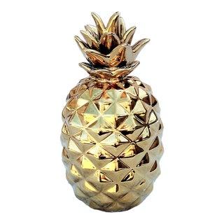 Gold Ceramic Pineapple For Sale