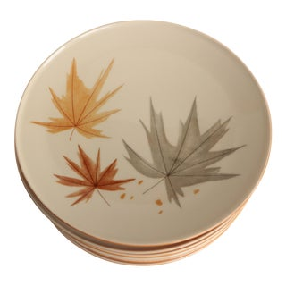 Ben Seibel for Iroquois Maple Leaf Dinner Plates - Set of 9