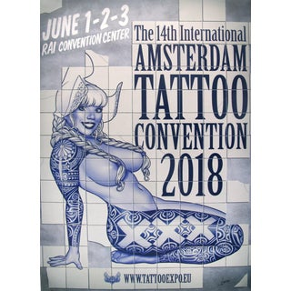 2018 Contemporary Dutch Poster, Amsterdam International Tattoo Convention - Vince For Sale