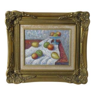 Fruit Still Life Original Oil Painting by J. Garrick For Sale