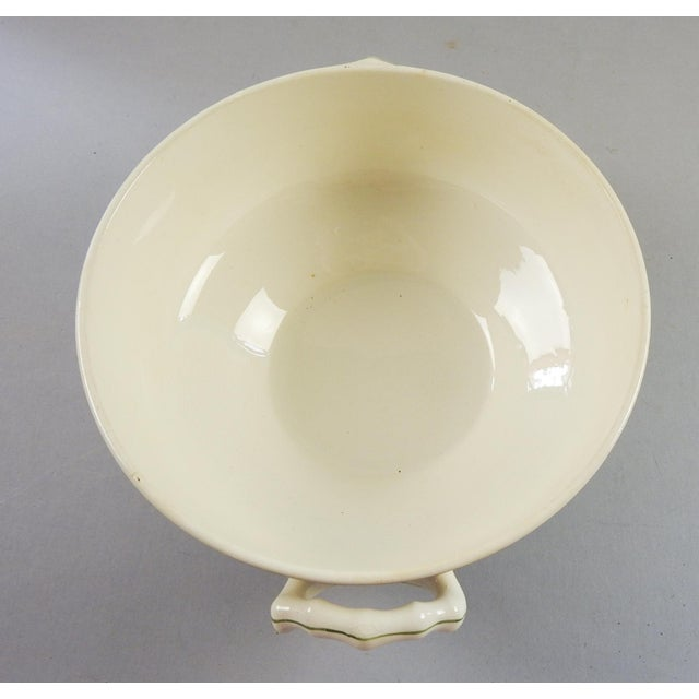 Ceramic French Longwy Handled Serving Bowl For Sale - Image 7 of 7