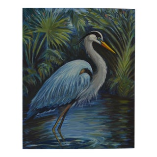 Great Blue Heron Painting For Sale