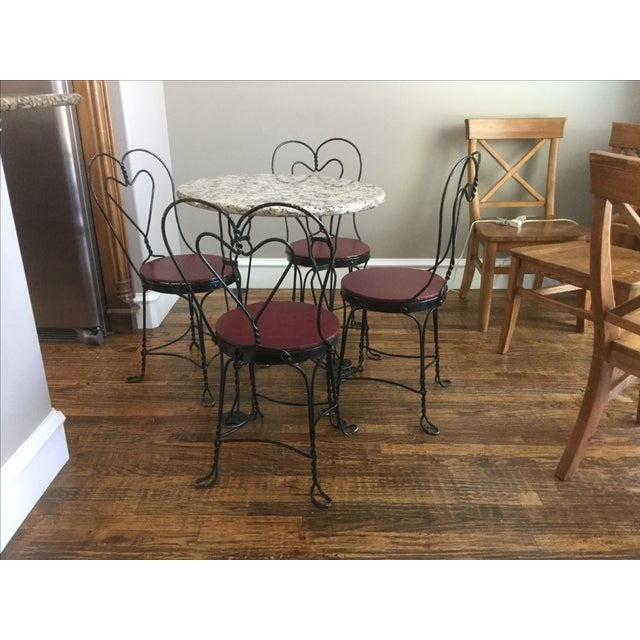 Vintage Ice Cream Parlor Dining Set - Image 6 of 7