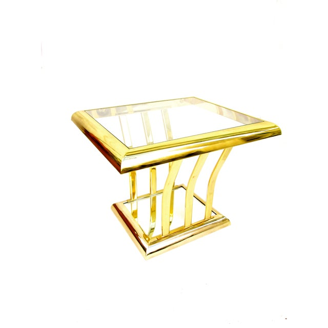 Post-Modern Two-Tier Brass End Tables - A Pair - Image 7 of 8