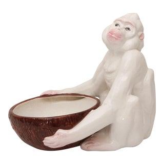 White & Brown Monkey With Bowl