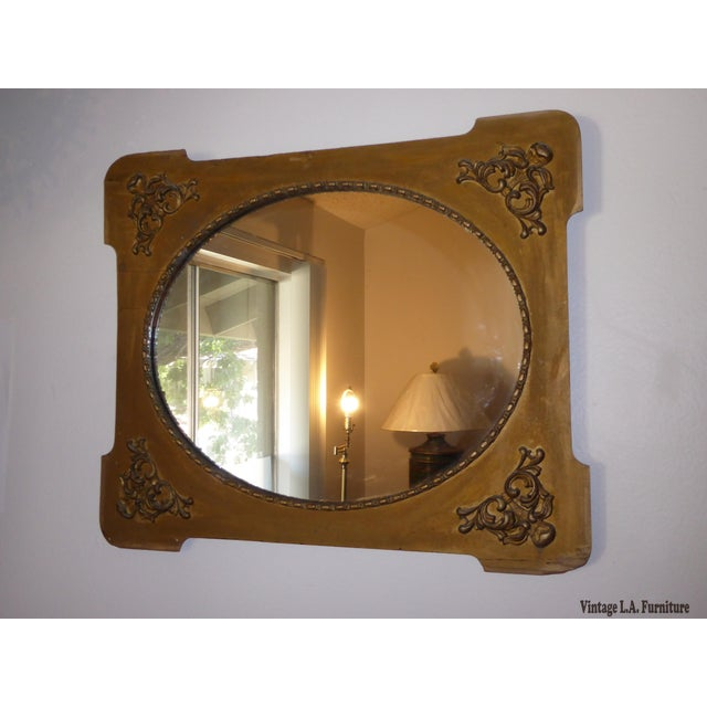 Antique Victorian Style Gold Gilt Floral Carved Wood Wall Mirror - Image 3 of 11