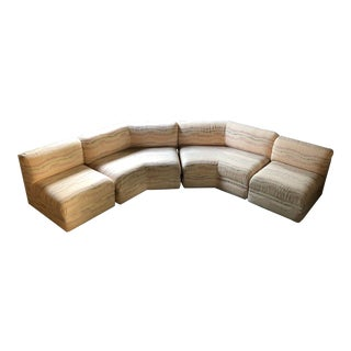 1980s Vintage Thayer Coggin Sectional Sofa - 4 Pieces For Sale