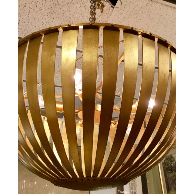 Arteriors Home Arteriors Brass Camden Chandelier For Sale - Image 4 of 6