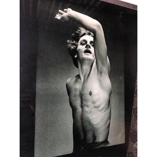 Vintage Mikhail Baryshnikov: Le Jeune Homme Et La Mort Framed Poster. Photographed by American Photographer Max Waldman....