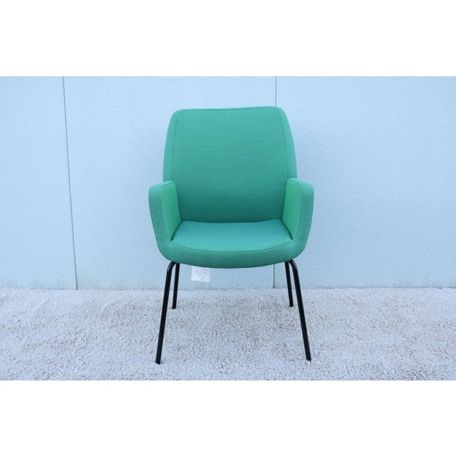 Steelcase Modern Brian Kane for Coalesse and Steelcase Bindu Green Guest Chair For Sale - Image 4 of 13
