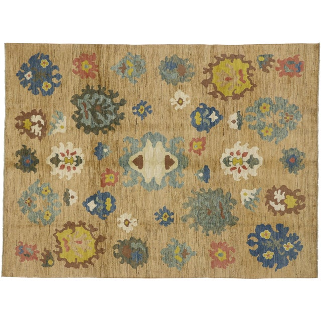 Colorful Turkish Oushak Rug - 8′3″ × 11′ For Sale