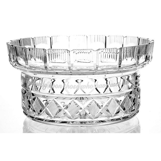 Modern Waterford Crystal Centerpiece Bowl & Lid For Sale - Image 3 of 8