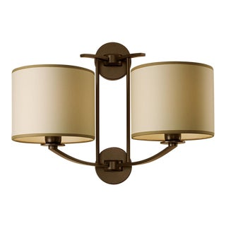 Glasgow Penny Bronze Wall Light & Double Shade