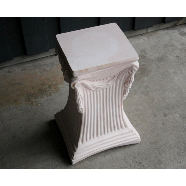 Pink Plaster Pedestal / Plant Stand / Side Table For Sale In Dallas - Image 6 of 11