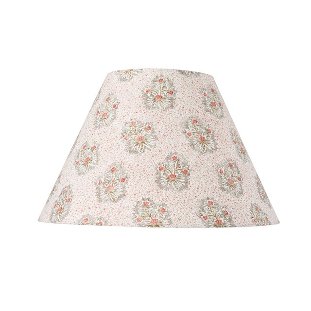 Early 21st Century Schumacher Cassis Floral Linen Lampshade in Rouge For Sale - Image 5 of 5