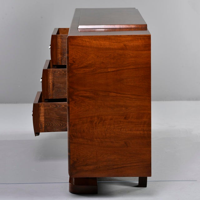 French Art Deco Walnut Sideboard For Sale - Image 9 of 13