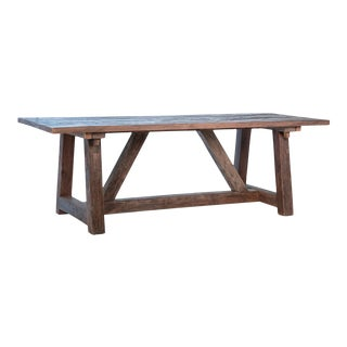 Rustic Reclaimed Wood Dining Table For Sale