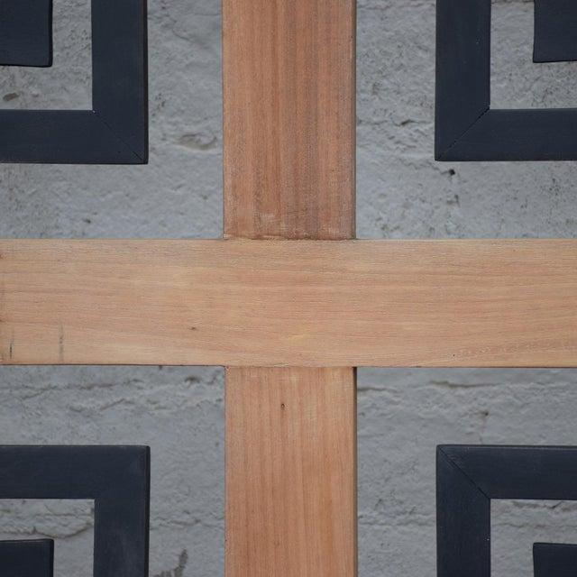 1960s Mexican Modernist Mahogany Room Divider Escudero Era For Sale - Image 5 of 9