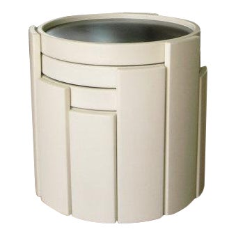 Cassina Stacking White Nesting Tables - Set of 4 For Sale