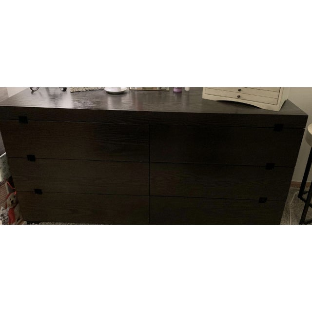 Great pre-owned West Elm dark brown/chocolate 6 drawer dresser. ** Please note I also have the 3 drawer in the same style...