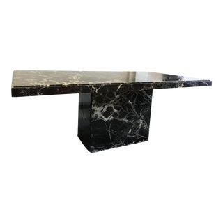 Black Marble Kelly Wearstler Style Rectangular Desk or Dining Table For Sale