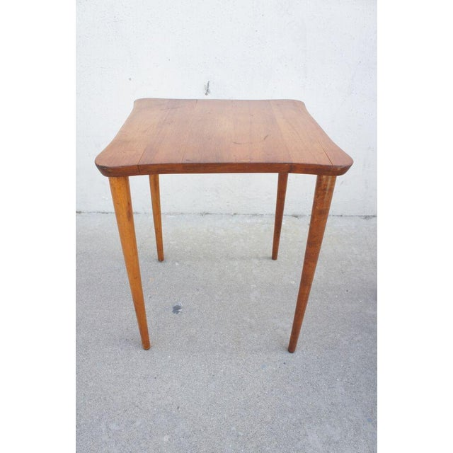 Vintage Oak Occasional Tables- A Pair For Sale - Image 4 of 6