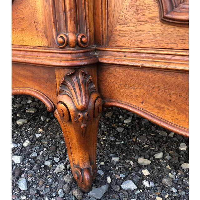 Late 19th Century Haentges Fres of Paris Walnut Hutch For Sale - Image 5 of 13