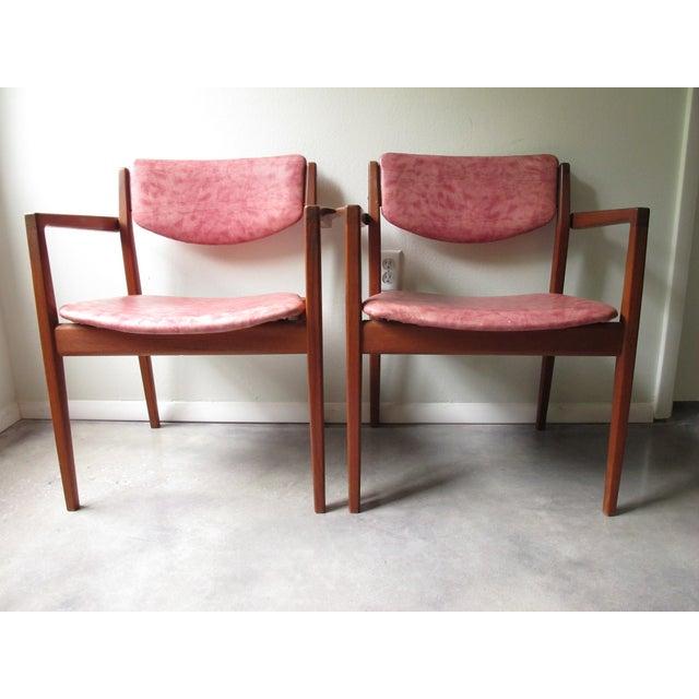 Danish Modern Finn Juhl Teak Armchairs - A Pair - Image 3 of 10