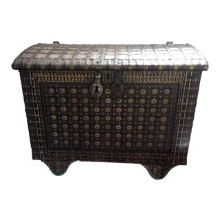 18th Century Asian Antique Grand Rajasthani Chest For Sale