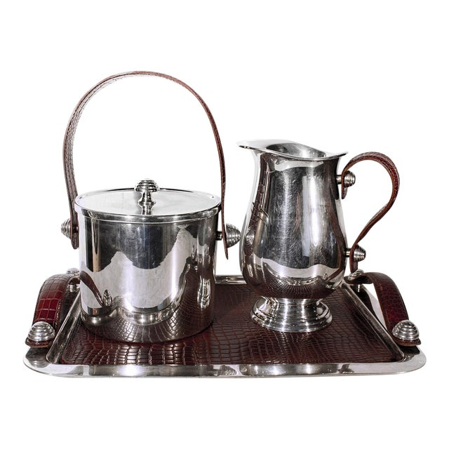 Sheffield Silver & Leather Bar Service Set - Image 1 of 8