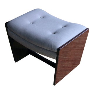 1980s Contemporary Angled Teak Ottoman For Sale