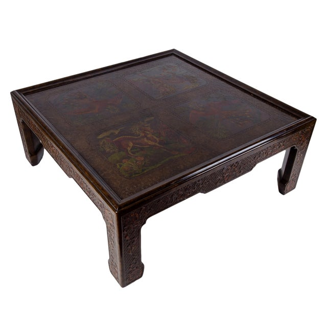 Chinoiserie Mario Buatta for John Widdicomb Chinoiserie Coffee Table For Sale - Image 3 of 10