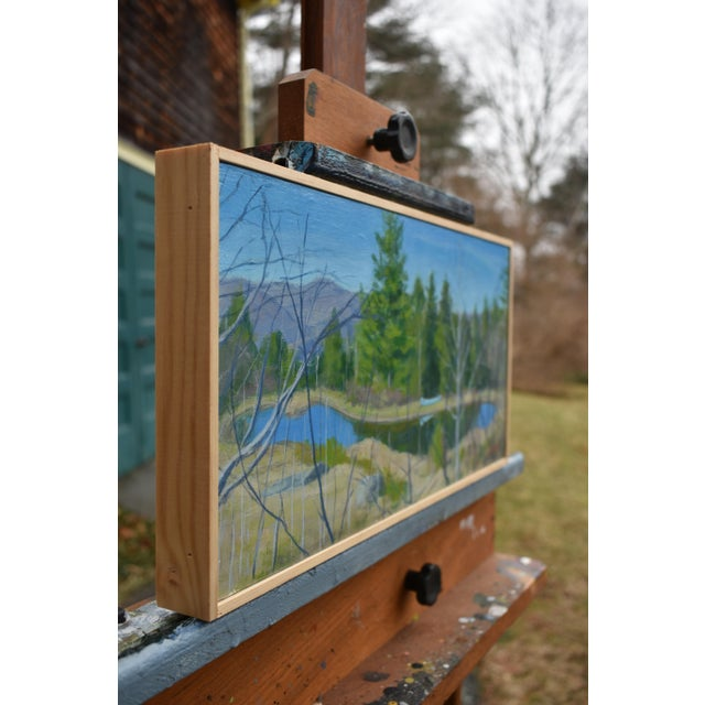 """""""Canoe With Pond and Mountains"""" Original Stephen Remick Painting For Sale In Providence - Image 6 of 9"""