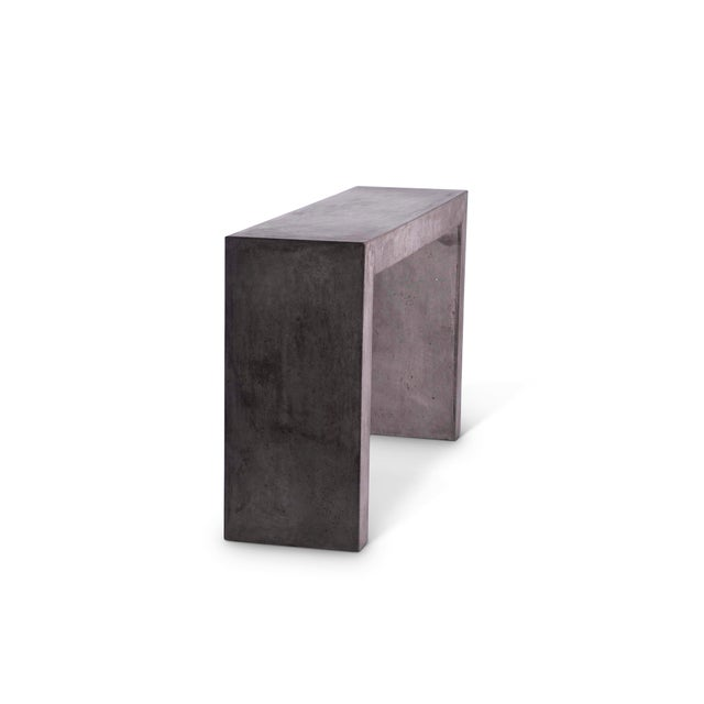 Contemporary Emma Console Table - Dark Grey For Sale - Image 3 of 4