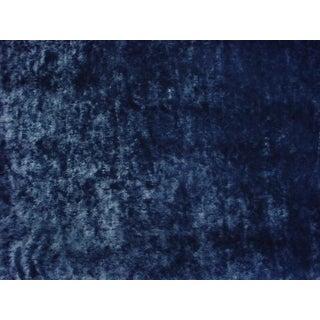 Modern Romo Black Emile Petrol Blue Metallic Honeycomb Upholstery Fabric - 2-7/8y For Sale