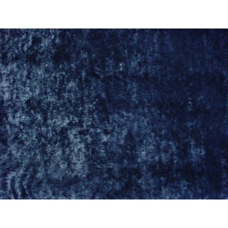 Modern Romo Black Emile Petrol Blue Metallic Honeycomb Upholstery Fabric - 5-7/8y For Sale
